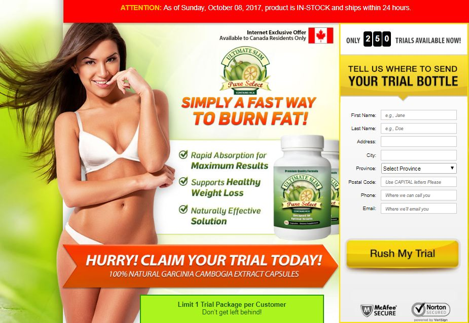 Ultimate Slim Pure Select Reviews Ca Weight Loss Pill