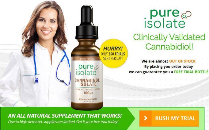 pure isolate cbd oil trial