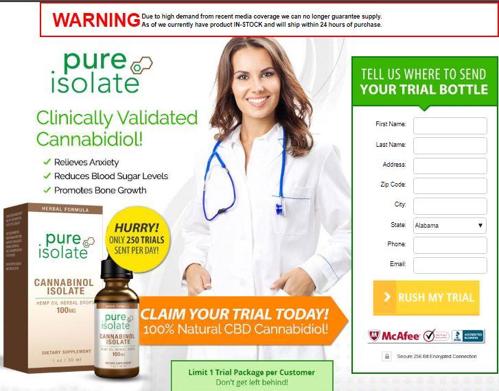 pure isolate cbd oil