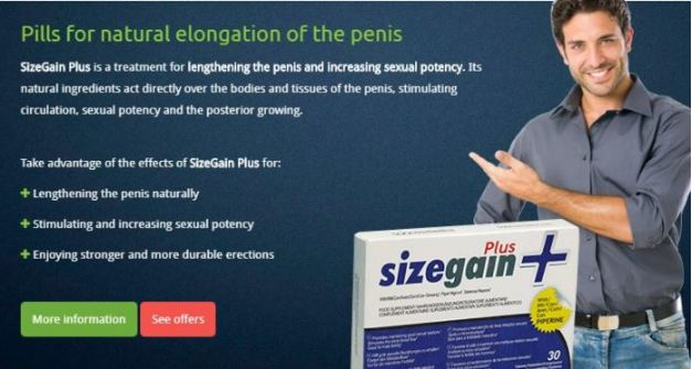 Size Gain Plus Reviews Natural Male Enhancement Formula Order Today