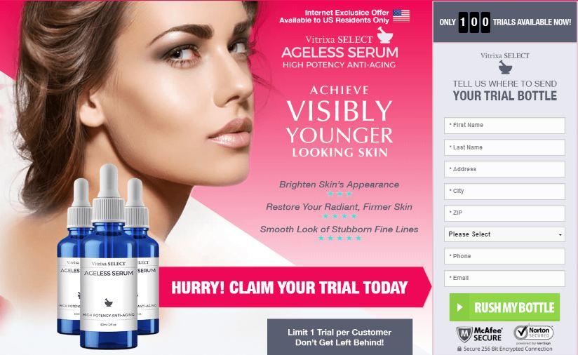 vitrixa select ageless serum trial