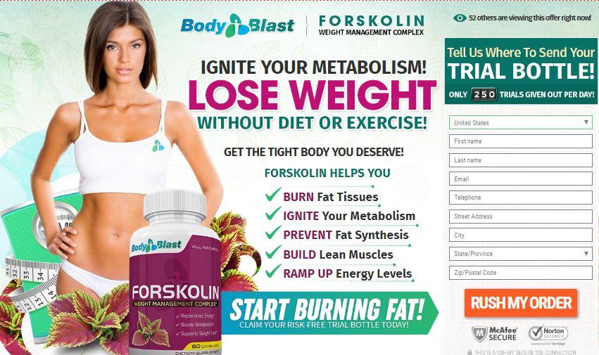 Forskolin Body Blast order