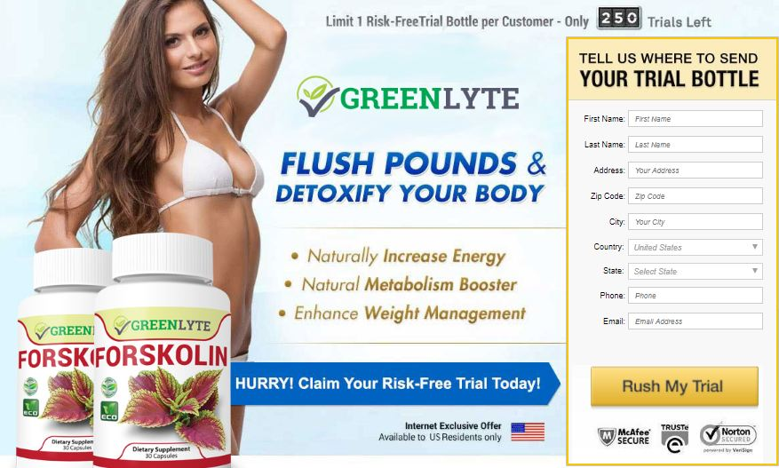 GreenLyte Forskolin order